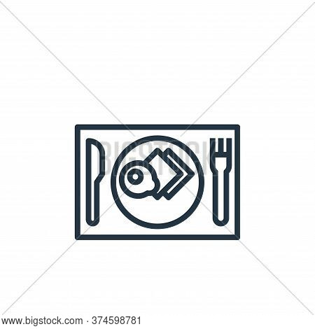 breakfast icon isolated on white background from hotel collection. breakfast icon trendy and modern