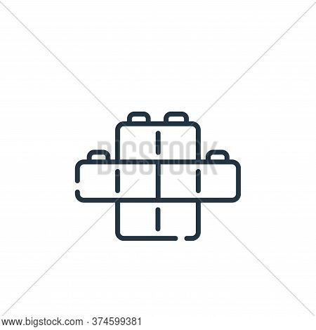bricks icon isolated on white background from children toys collection. bricks icon trendy and moder