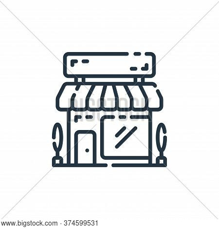 store icon isolated on white background from startup collection. store icon trendy and modern store