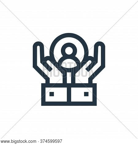 customer care icon isolated on white background from advertisement collection. customer care icon tr