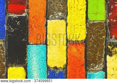 Color Bars, Color Bricks Background