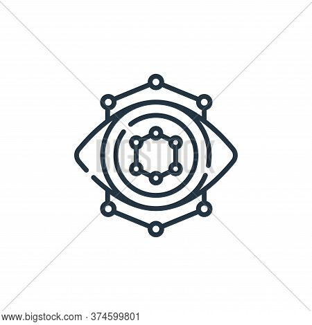 eye icon isolated on white background from robotics collection. eye icon trendy and modern eye symbo
