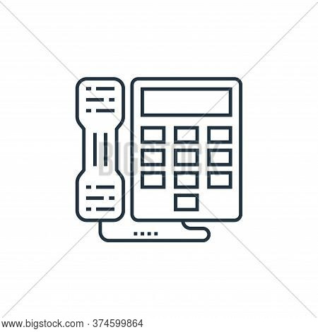 telephone icon isolated on white background from technology devices collection. telephone icon trend