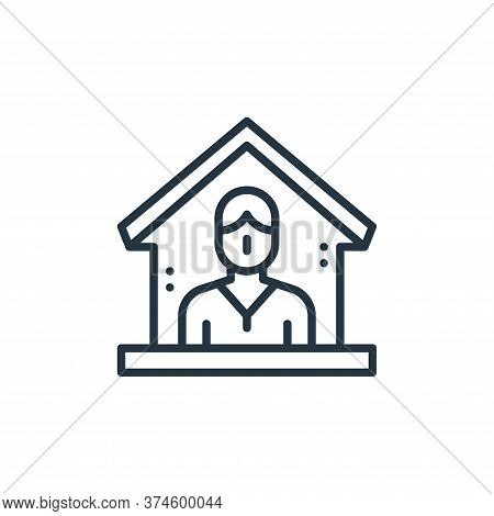 quarantine icon isolated on white background from virus transmission collection. quarantine icon tre
