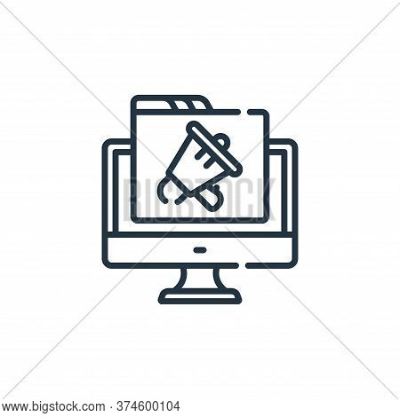promotion icon isolated on white background from web development collection. promotion icon trendy a
