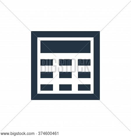 calculator icon isolated on white background from user interface collection. calculator icon trendy