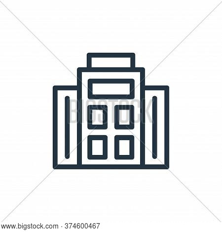 building icon isolated on white background from banking and finance flat icons collection. building