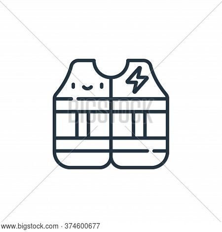 vest icon isolated on white background from electrician tools and elements collection. vest icon tre