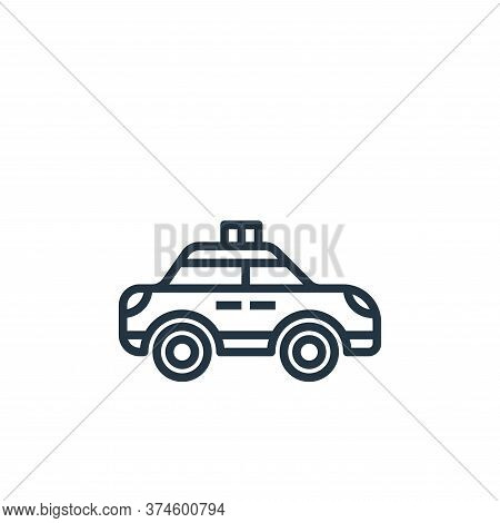 police car icon isolated on white background from motorway collection. police car icon trendy and mo