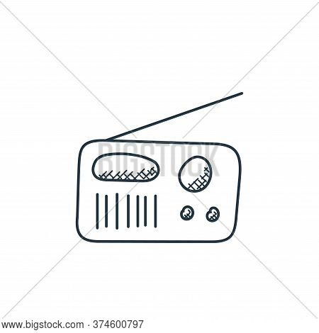 radio icon isolated on white background from technology collection. radio icon trendy and modern rad
