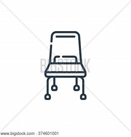 chair icon isolated on white background from plastic products collection. chair icon trendy and mode