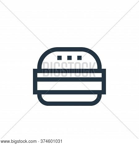 tofu burger icon isolated on white background from vegan collection. tofu burger icon trendy and mod