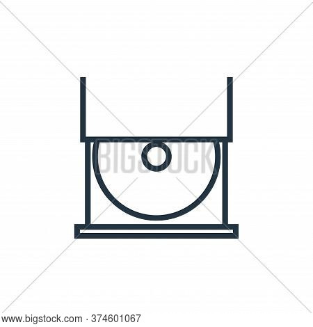 cd player icon isolated on white background from hardware collection. cd player icon trendy and mode