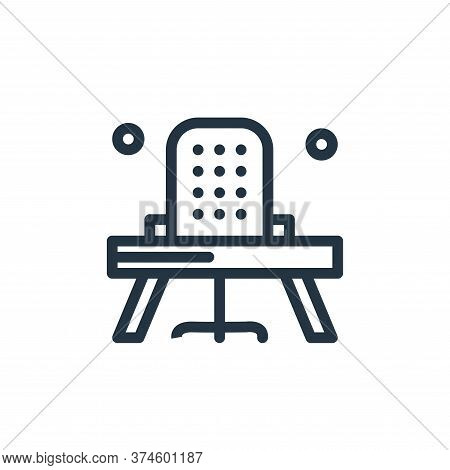office chair icon isolated on white background from business collection. office chair icon trendy an