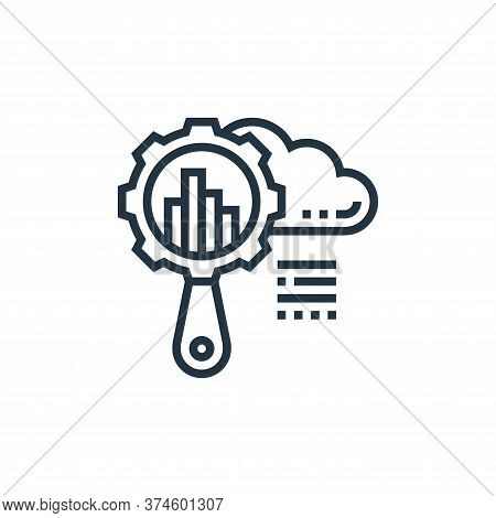 global research icon isolated on white background from data analytics collection. global research ic