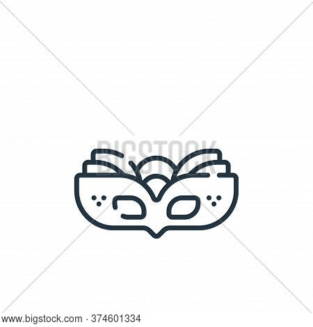 carnival mask icon isolated on white background from celebration collection. carnival mask icon tren