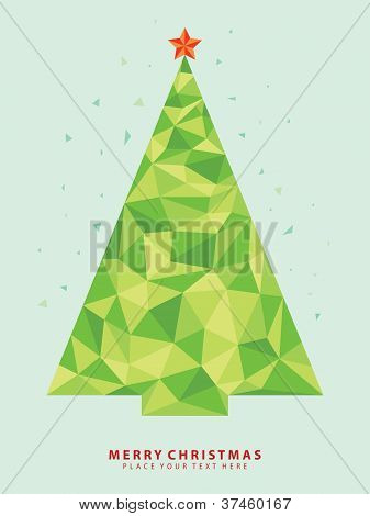 Abstract Christmas tree vector from crystal graphic