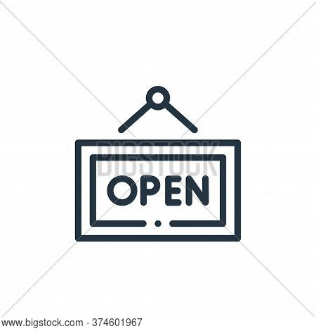 open sign icon isolated on white background from online shopping collection. open sign icon trendy a