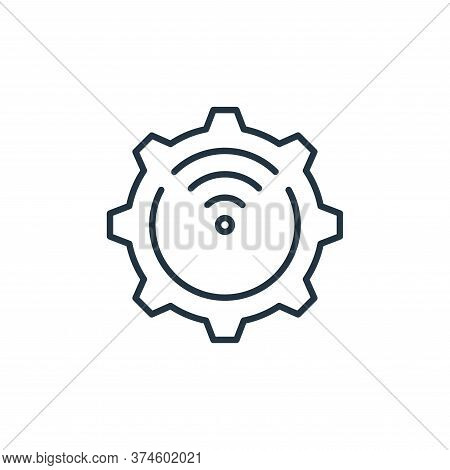 settings icon isolated on white background from internet of things collection. settings icon trendy