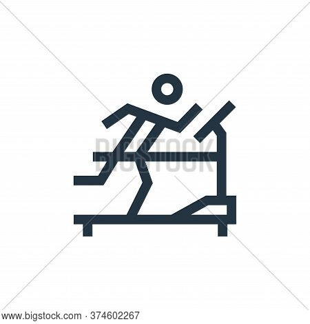 treadmill icon isolated on white background from hobbies collection. treadmill icon trendy and moder