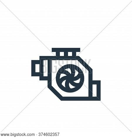 engine icon isolated on white background from industrial process collection. engine icon trendy and