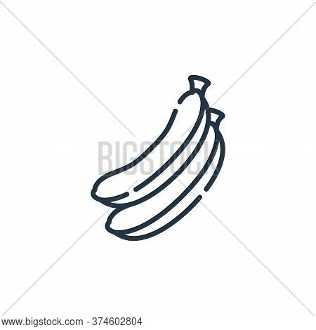 banana icon isolated on white background from vegan food collection. banana icon trendy and modern b
