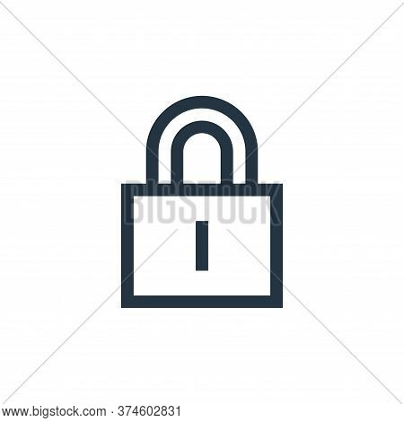 lock icon isolated on white background from web essentials collection. lock icon trendy and modern l