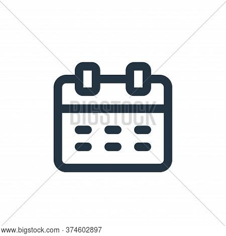 calendar icon isolated on white background from user interface collection. calendar icon trendy and