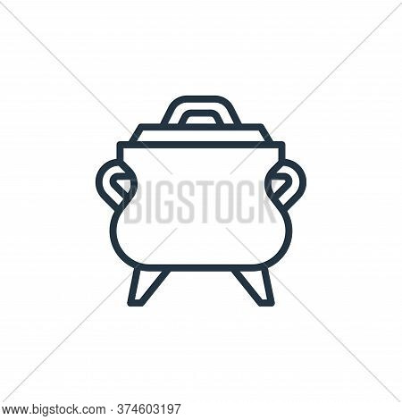 pot icon isolated on white background from camping collection. pot icon trendy and modern pot symbol