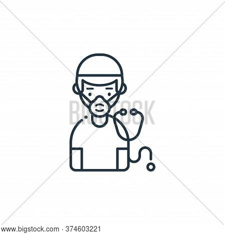 doctor icon isolated on white background from coronavirus collection. doctor icon trendy and modern