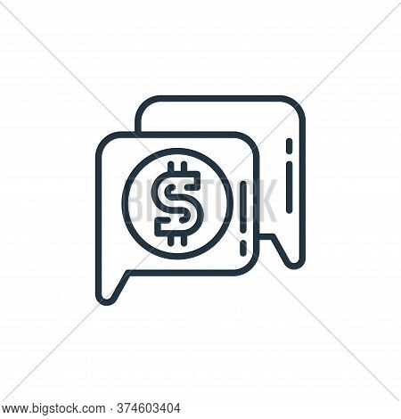money talk icon isolated on white background from money and currency collection. money talk icon tre