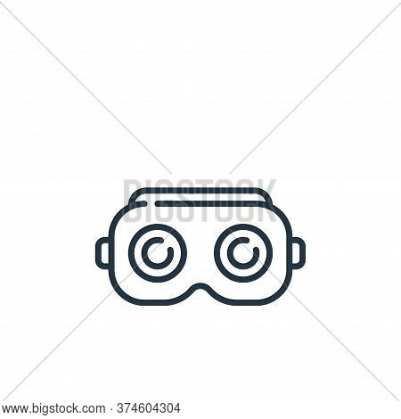 vr glasses icon isolated on white background from technology of the future collection. vr glasses ic