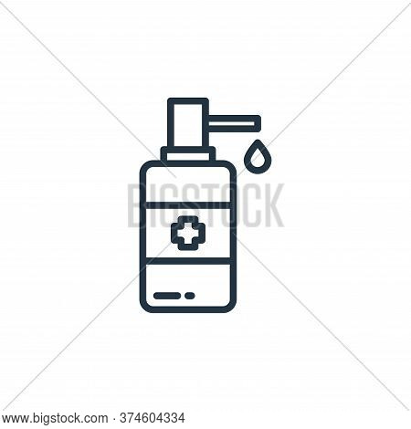 alcohol icon isolated on white background from virus collection. alcohol icon trendy and modern alco