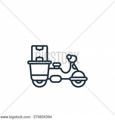 delivery bike icon isolated on white background from shipping and delivery collection. delivery bike