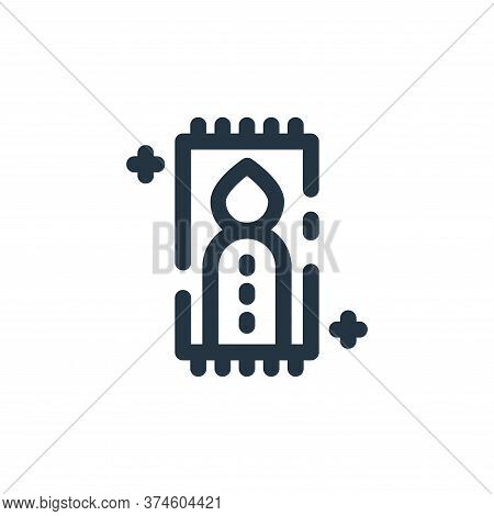 pray icon isolated on white background from ramadan kareem collection. pray icon trendy and modern p