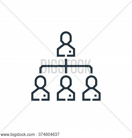 hierarchical structure icon isolated on white background from marketing collection. hierarchical str
