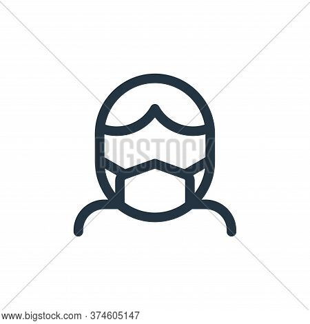 medical mask icon isolated on white background from health collection. medical mask icon trendy and