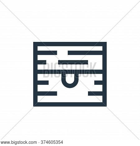 chest icon isolated on white background from video game elements collection. chest icon trendy and m