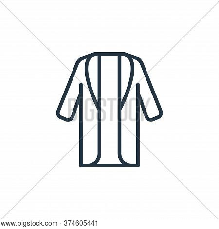 long coat icon isolated on white background from wardrobe collection. long coat icon trendy and mode