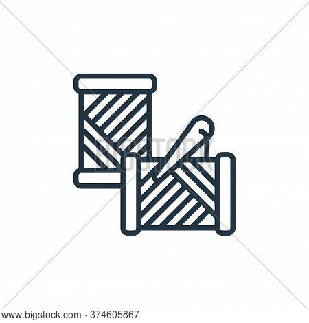 needle icon isolated on white background from sewing equipment collection. needle icon trendy and mo