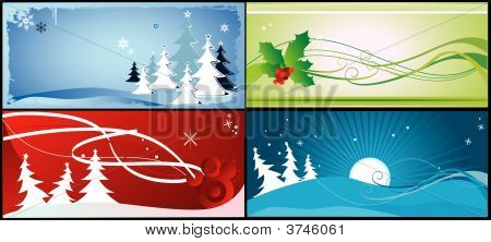 christmas tree vector composition illustration over a colors background poster