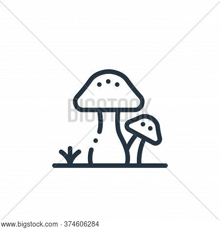 mushroom icon isolated on white background from in the village collection. mushroom icon trendy and