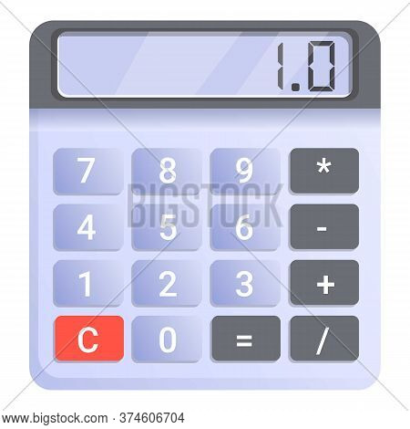 Accounting Calculator Icon. Cartoon Of Accounting Calculator Vector Icon For Web Design Isolated On