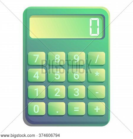 Tax Calculator Icon. Cartoon Of Tax Calculator Vector Icon For Web Design Isolated On White Backgrou