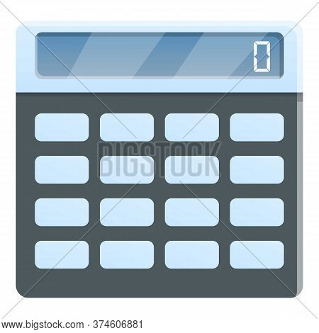 Math Calculator Icon. Cartoon Of Math Calculator Vector Icon For Web Design Isolated On White Backgr