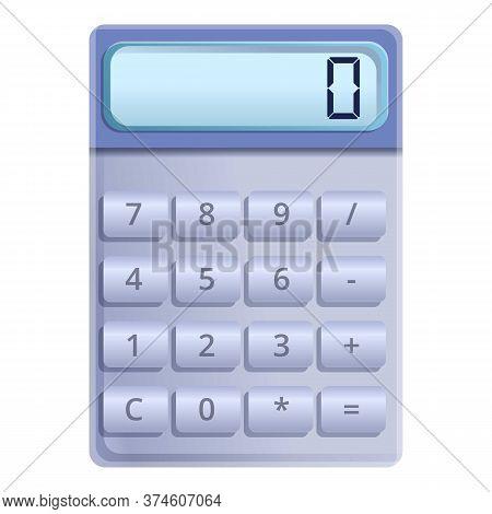 Button Calculator Icon. Cartoon Of Button Calculator Vector Icon For Web Design Isolated On White Ba