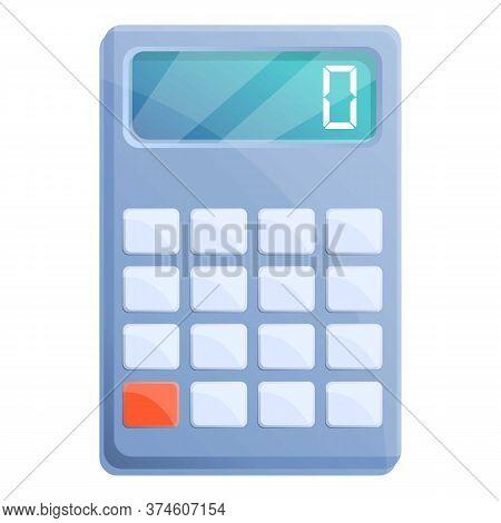 Algebra Calculator Icon. Cartoon Of Algebra Calculator Vector Icon For Web Design Isolated On White