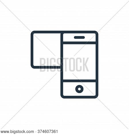 mobile icon isolated on white background from user interface collection. mobile icon trendy and mode