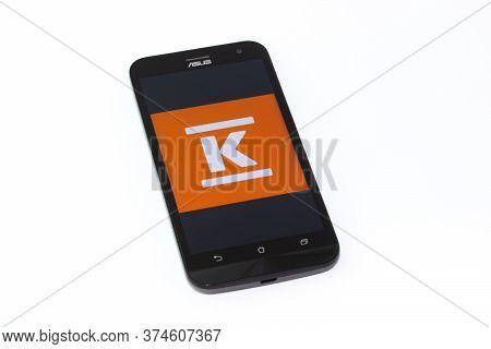 Kouvola, Finland - 23 January 2020: K-ruoka App Logo On The Screen Of Smartphone Asus