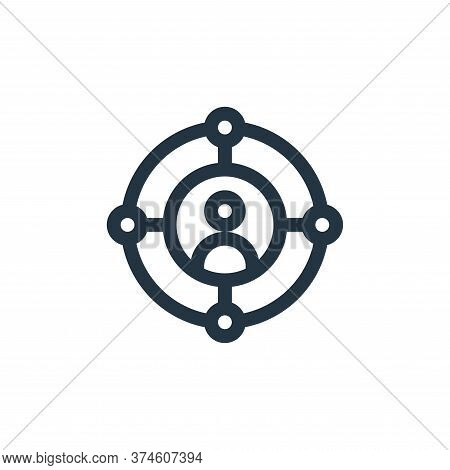 target icon isolated on white background from virtual reality collection. target icon trendy and mod